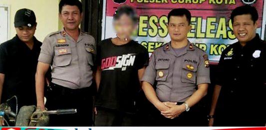 Gasak Motor Tetangga Kebun RS Ditangkap Polisi
