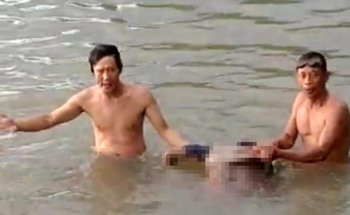 Pandi ditemukan mengapung di Sungai Musi